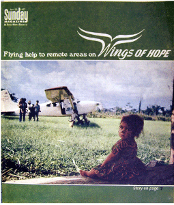 Flying Help to Remote Areas on Wings of Hope By Mary Kimbrough St. Louis Globe-Democrat Jan. 23, 1977