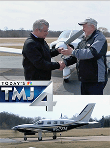 Kenosha man donates private plane to charity By Tatiana Cash KTMJ-TV Milwaukee – April 5, 2018